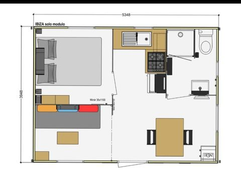MOBILHOME 3 personnes - Confort