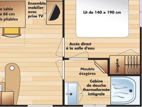 MOBILHOME 4 personnes - Coquelicots