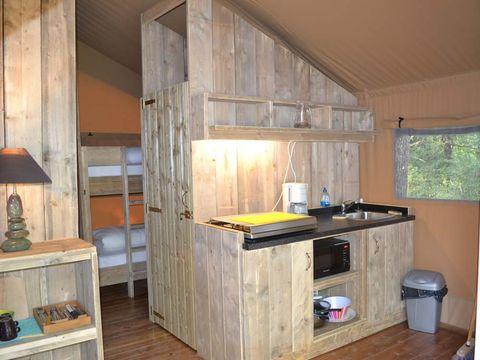 TENTE TOILE ET BOIS 4 personnes - Safari Lodge sans douche