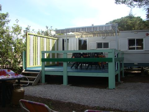 MOBILHOME 5 personnes - 3 chambres + Terrasse