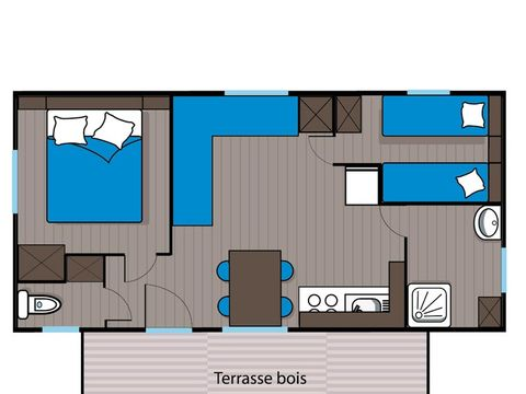 MOBILHOME 6 personnes - 2 chambres + clim (C6T)