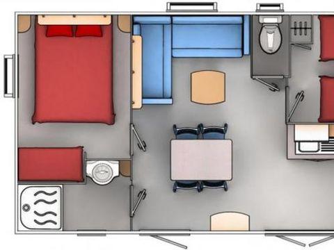 MOBILHOME 5 personnes - Mobilhome climatisé Premium 2CH