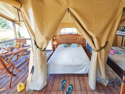 TENTE TOILE ET BOIS 5 personnes - Lodges Bali