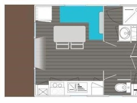 MOBILHOME 4 personnes - 2 chambres, 23m²