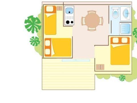 CHALET 6 personnes - CLIM 3 chambres
