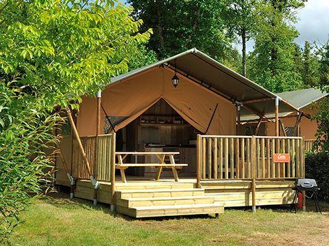 TENTE TOILE ET BOIS 5 personnes - Lodge safari, sans sanitaire