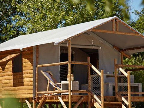 TENTE TOILE ET BOIS 4 personnes - Cabane Lodge, sans sanitaires