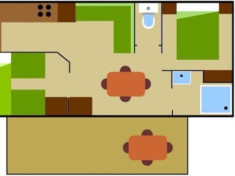 MOBILHOME 6 personnes - Koawa Loggia Confort