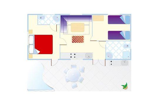MOBILHOME 6 personnes - Mobile Home Joshua XL