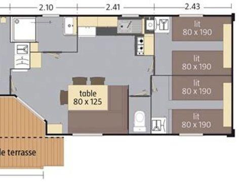 MOBILHOME 8 personnes - Koawa Loft Confort Bord de Lac