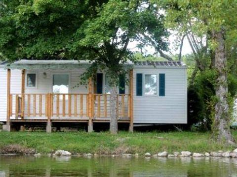 APPARTEMENT 4 personnes - Mobil-home avec terrasse (Lits: 1 gd + 2 pts côte à côte)