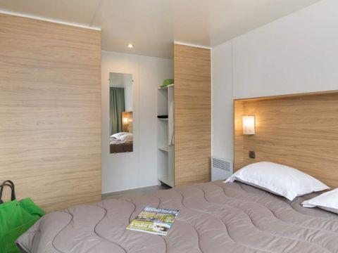 MOBILHOME 6 personnes - COTTAGE ZEN Luxe 2 ch + clim +TV + Spa privatif