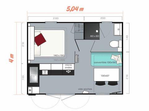 MOBILHOME 2 personnes - Cahita - 1 chambre
