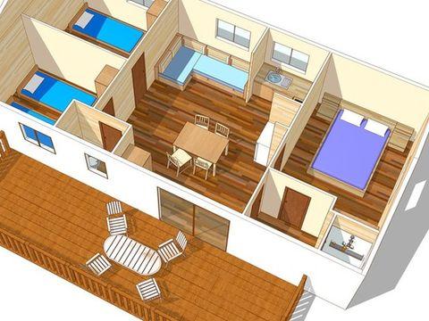 MOBILHOME 6 personnes - VILLA 3 Chambres