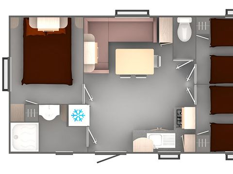 MOBILHOME 6 personnes - 3 chambres