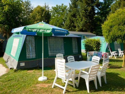 BUNGALOW TOILÉ 6 personnes - Tente Luxe BT, 2  cabines, sans sanitaires