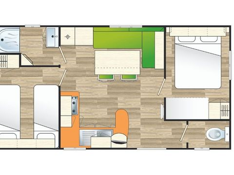 MOBILHOME 6 personnes - Evasion 2 chambres
