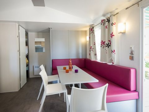 MOBILHOME 6 personnes - 3 Chambres, TV + CLIM