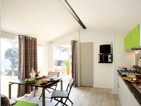 MOBILHOME 6 personnes - Cottage Méditerranée Grand Confort 3 Pièces Climatisé + TV pour 4/6 personnes
