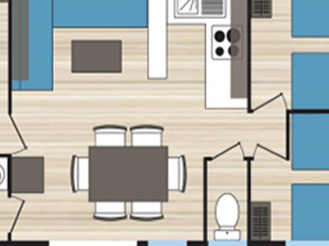 MOBILHOME 6 personnes - Confort TV (GC7)