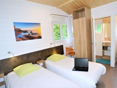CHALET 6 personnes - 3 chambres avec 2 terrasses semi couvertes
