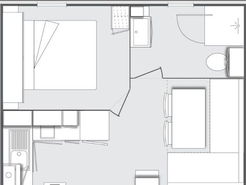 MOBILHOME 2 personnes - 1 chambre
