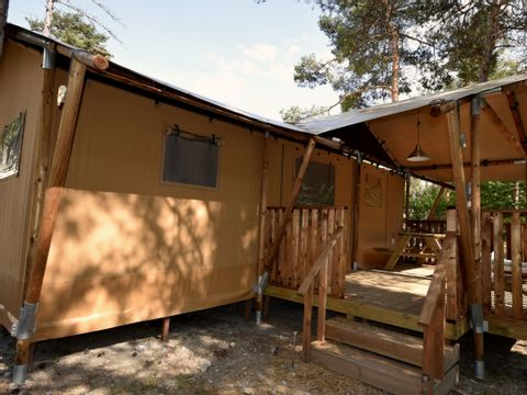 BUNGALOW TOILÉ 5 personnes - GLAMPING 2 chambres