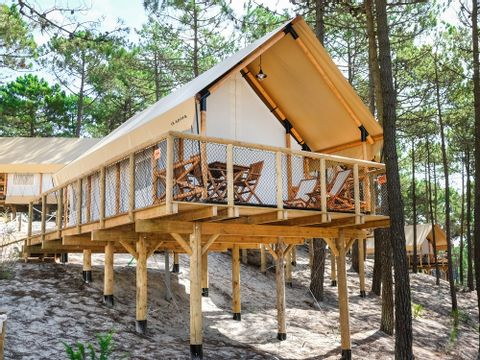 BUNGALOW TOILÉ 4 personnes - GLAMPING LUXURY FAMILY 4Pers