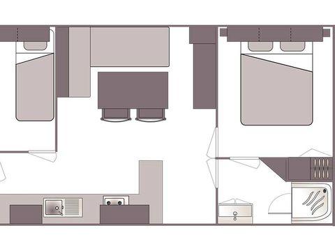 MOBILHOME 4 personnes - CONFORT 2 chambres (samedi/samedi)