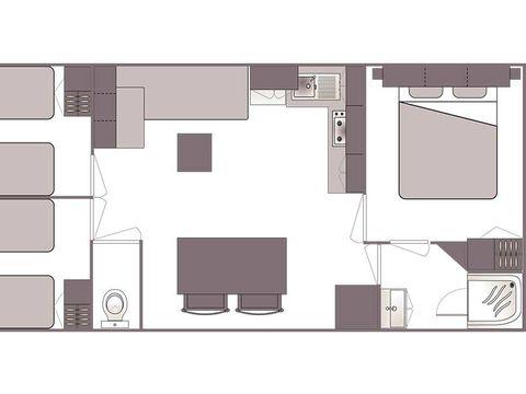 MOBILHOME 6 personnes - CONFORT 3 chambres (samedi/samedi)