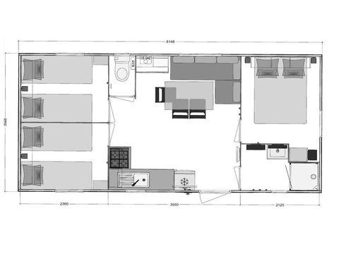 MOBILHOME 8 personnes - Confort 3 chambres TV et Lave vaisselle
