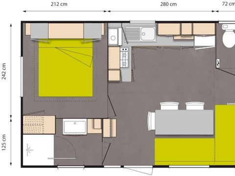 MOBILHOME 6 personnes - 3CH