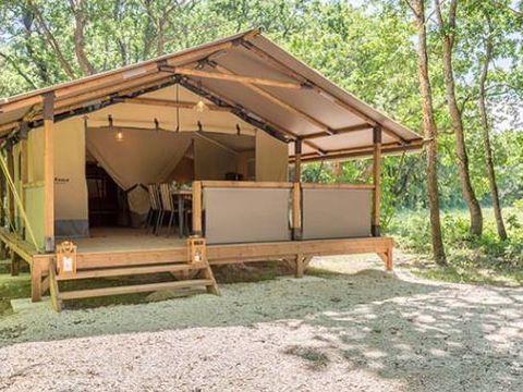 TENTE TOILE ET BOIS 5 personnes - Tente Kenya, sans sanitaires (vue forêt)