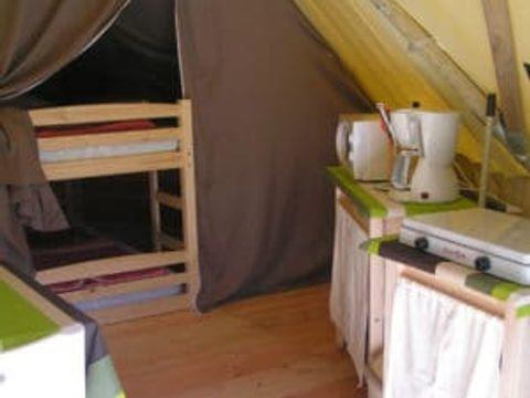 TENTE TOILE ET BOIS 4 personnes - Tipi sans sanitaires 2 chambres