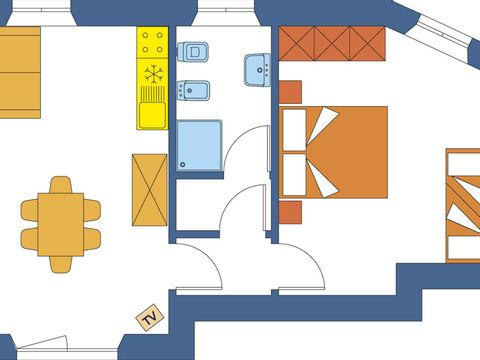 APPARTEMENT 6 personnes - GLICINE (rez-de-chaussée ou étage)
