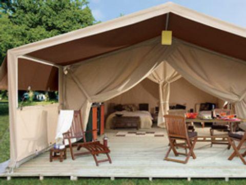 TENTE TOILE ET BOIS 5 personnes - Tente safari (sans sanitaires)