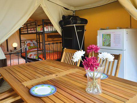 TENTE TOILE ET BOIS 6 personnes - Tente safari XL (sans sanitaires)