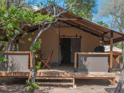 TENTE TOILE ET BOIS 5 personnes - Lodge Kenya sans sanitaires