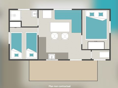 MOBILHOME 4 personnes - 30 m2