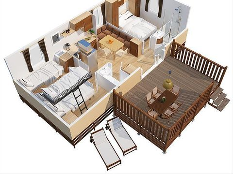 MOBILHOME 6 personnes - Cosy Plus