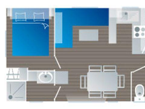 MOBILHOME 6 personnes - Confort (C7CT)