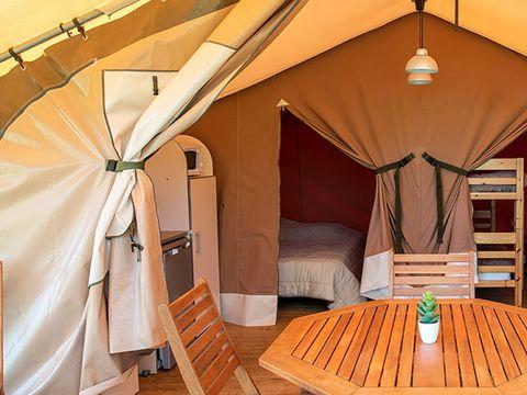 TENTE TOILE ET BOIS 5 personnes - Lodge sans sanitaire