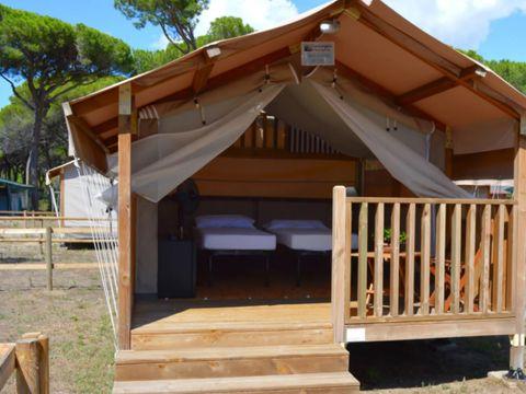 TENTE TOILE ET BOIS 2 personnes - Mini Lodge