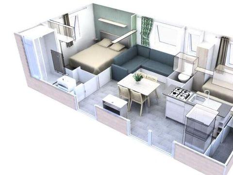 MOBILHOME 6 personnes - 3 Pièces Climatisé + TV pour 4/6 personnes