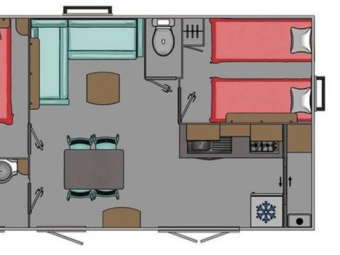 MOBILHOME 6 personnes - Mobilhome Confort 2CH