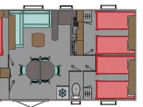 MOBILHOME 7 personnes - Mobilhome Confort 3CH