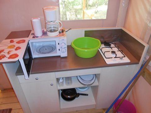 TENTE TOILE ET BOIS 4 personnes - SAHARI - sans sanitaires