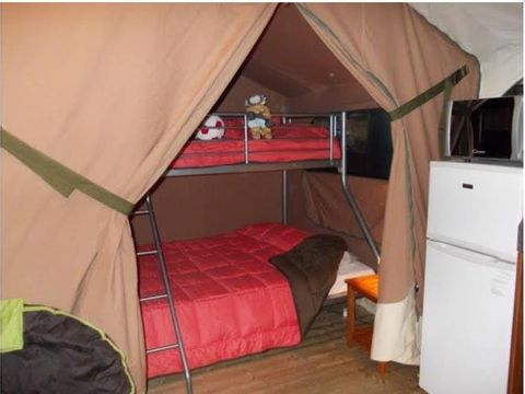 TENTE TOILE ET BOIS 5 personnes - Tente Lodge Victoria, sans sanitaire