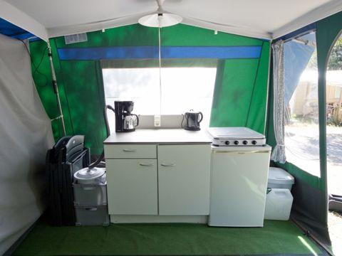 TENTE TOILE ET BOIS 6 personnes - Tente Luxe BT, 2  cabines, sans sanitaires