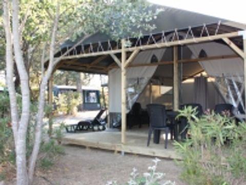 TENTE TOILE ET BOIS 6 personnes - Lodge LG, sans sanitaires